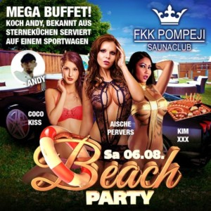 FKK Pompeji Beach Party Flyer