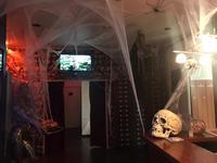 Ambiente der FKK World in Halloweenlook