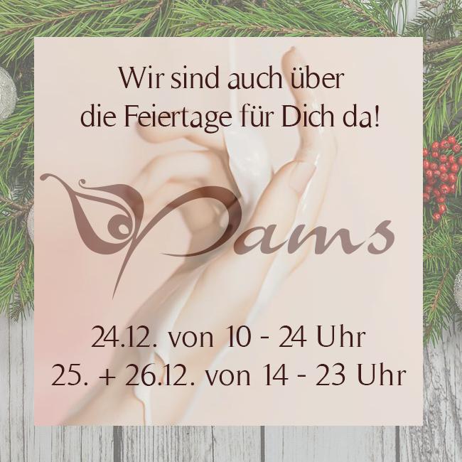 Öffnungszeiten Pams Lounge - Weihnachten